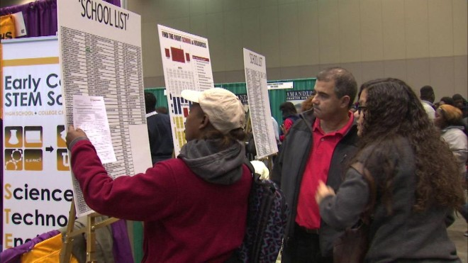 Parents at the Chicago School Fair. Photo credit: abc7chicago.com