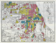 A HOLC redlining map of Chicago's South Side